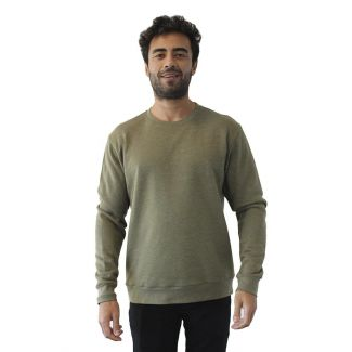 Unisex PCH Basic Pullover Crew Neck-XS-Heather Military Green