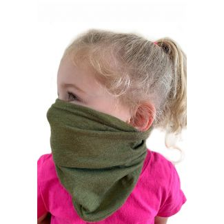youth neck gaiter military green