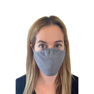 Next Level Adult Face Mask-ADULT-Heather Gray