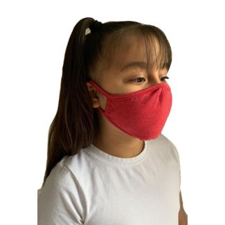 Next Level Youth Face Mask-OS-HEATHER RED