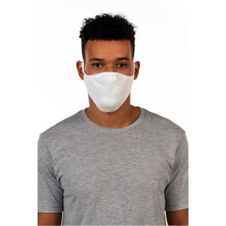 Next Level Tri-Blend Adult Face Mask-OS-Heather White